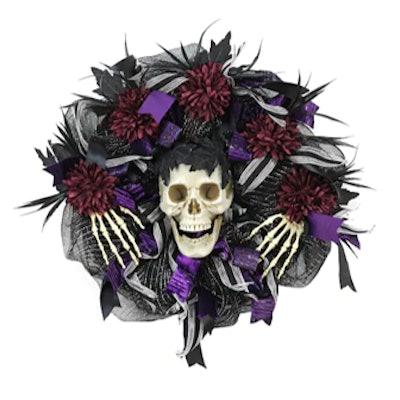 "22"" Skeleton Ribbon Wreath by Ashland®"