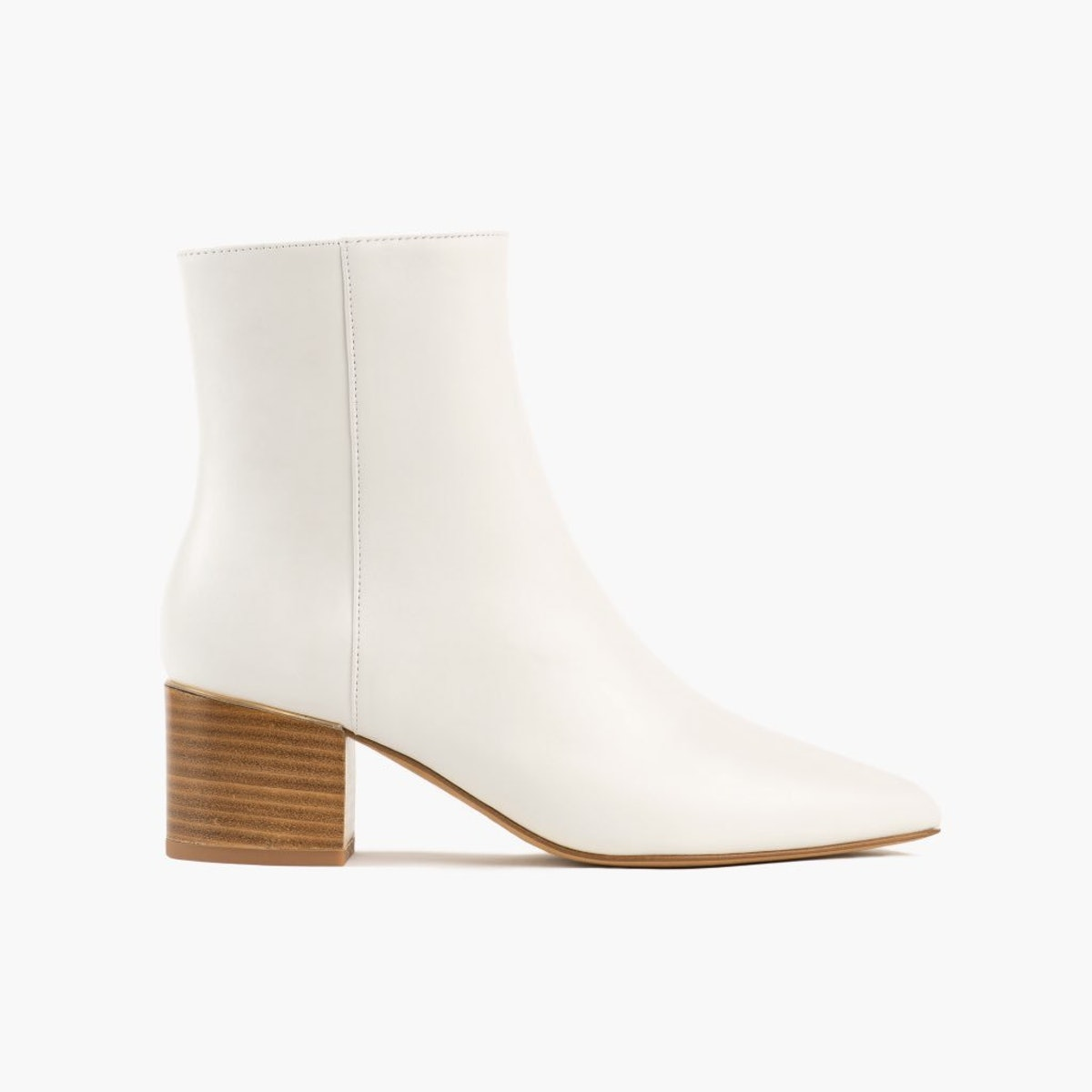 Luna bootie in white ecru leather from Thursday Boot Company.
