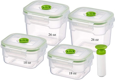 Lasting Freshness Vacuum Seal Food Containers (9-Piece)