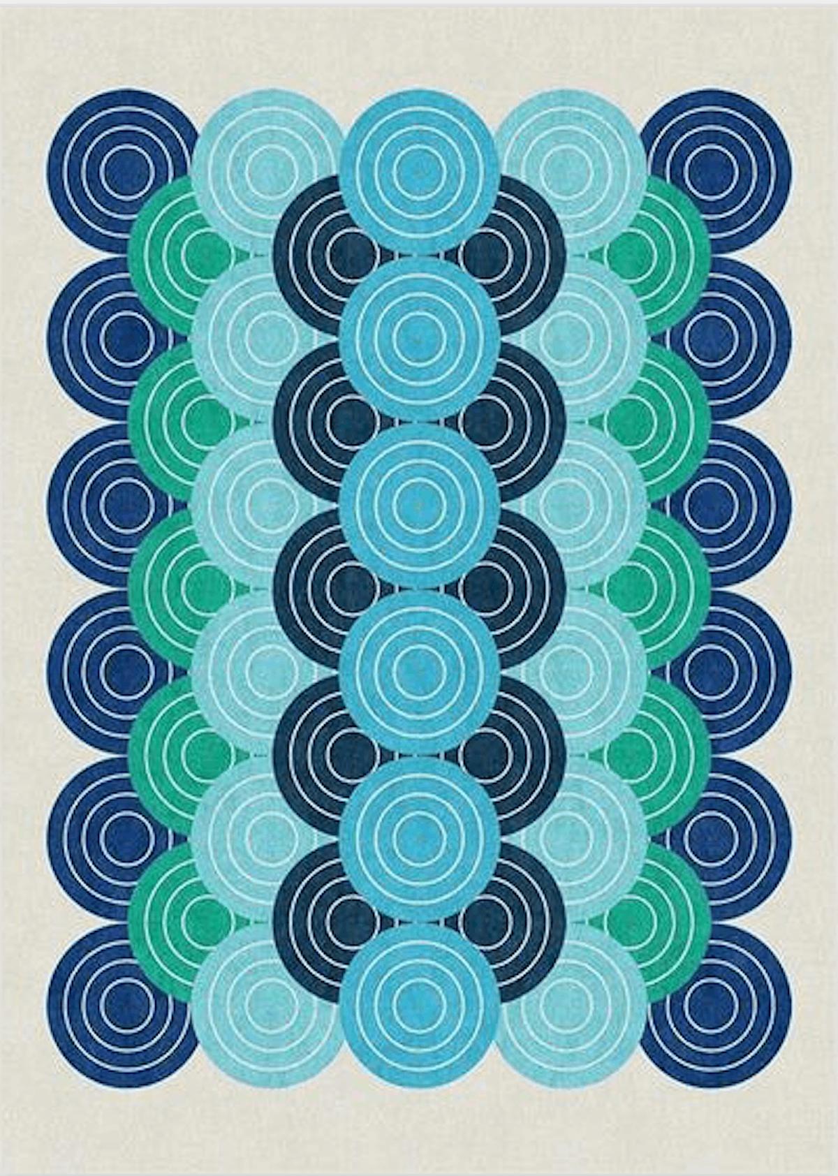 Jonathan Adler Biba Blue Green Rug