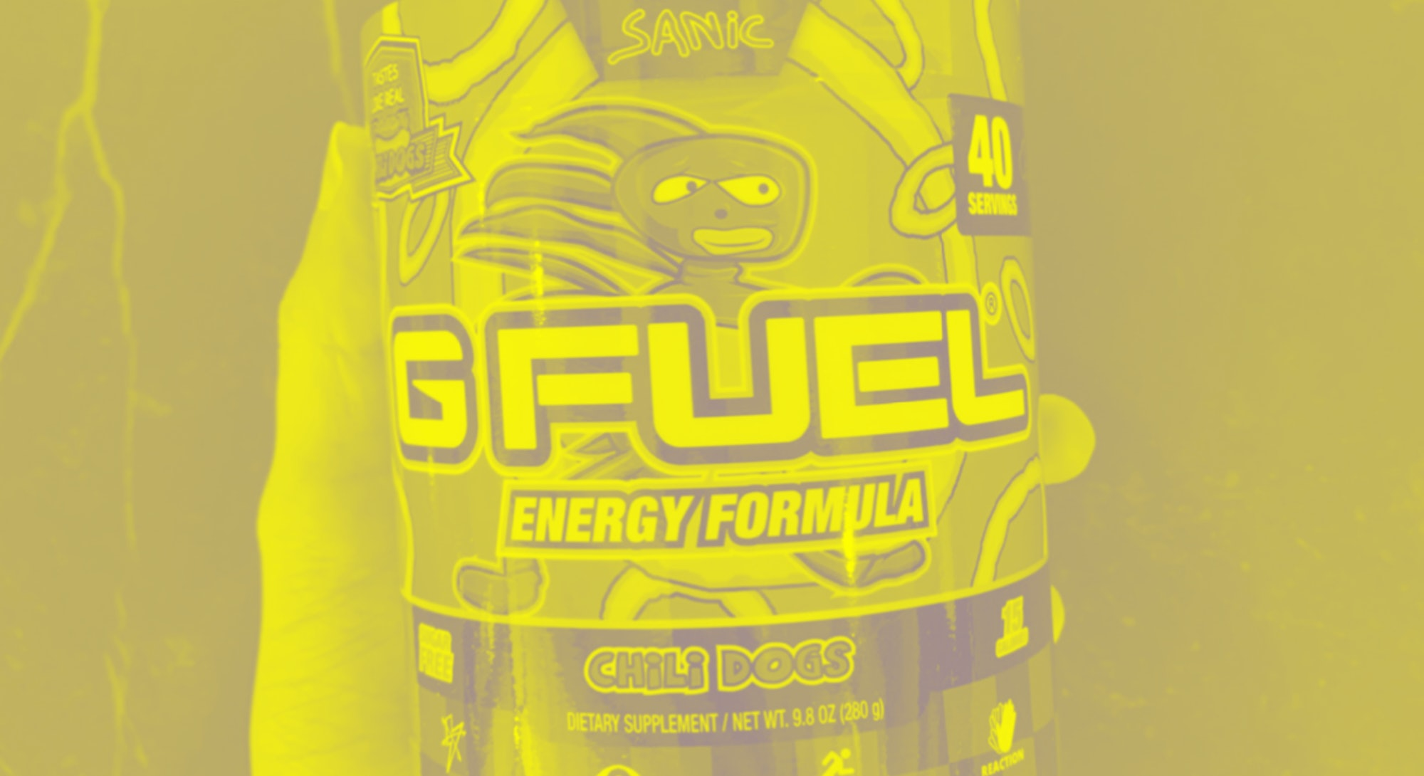 G-Fuel's Sanic-themed energy powder that tastes like chili dogs. Food. Drink. Video games. Gaming. M...