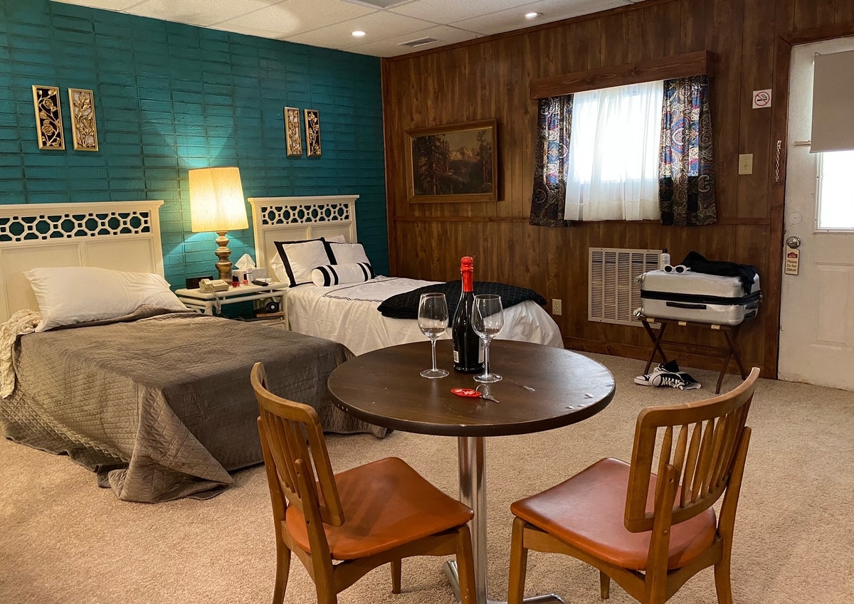 """A set inspired by the 'Schitt's Creek' Rosebud Motel named """"The Roseburg Motel"""" is located in Missis..."""