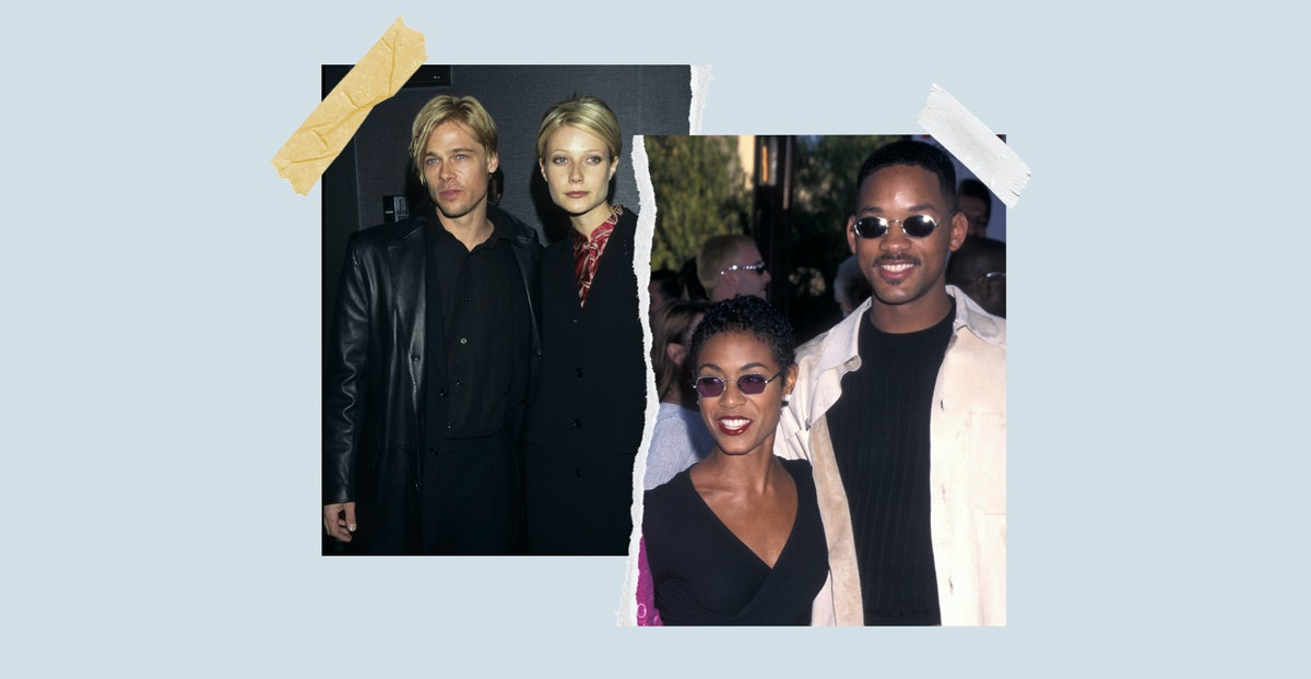 Here are 12 celebrity couple who had matching hairstyles, including Brad Pitt and Gwyneth Paltrow, W...