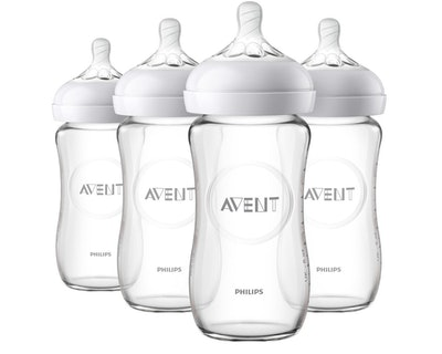 Philips Avent Natural Glass Baby Bottles (4-Pack)