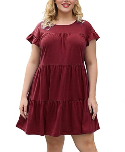 Nemidor Ruffle Swing Dress
