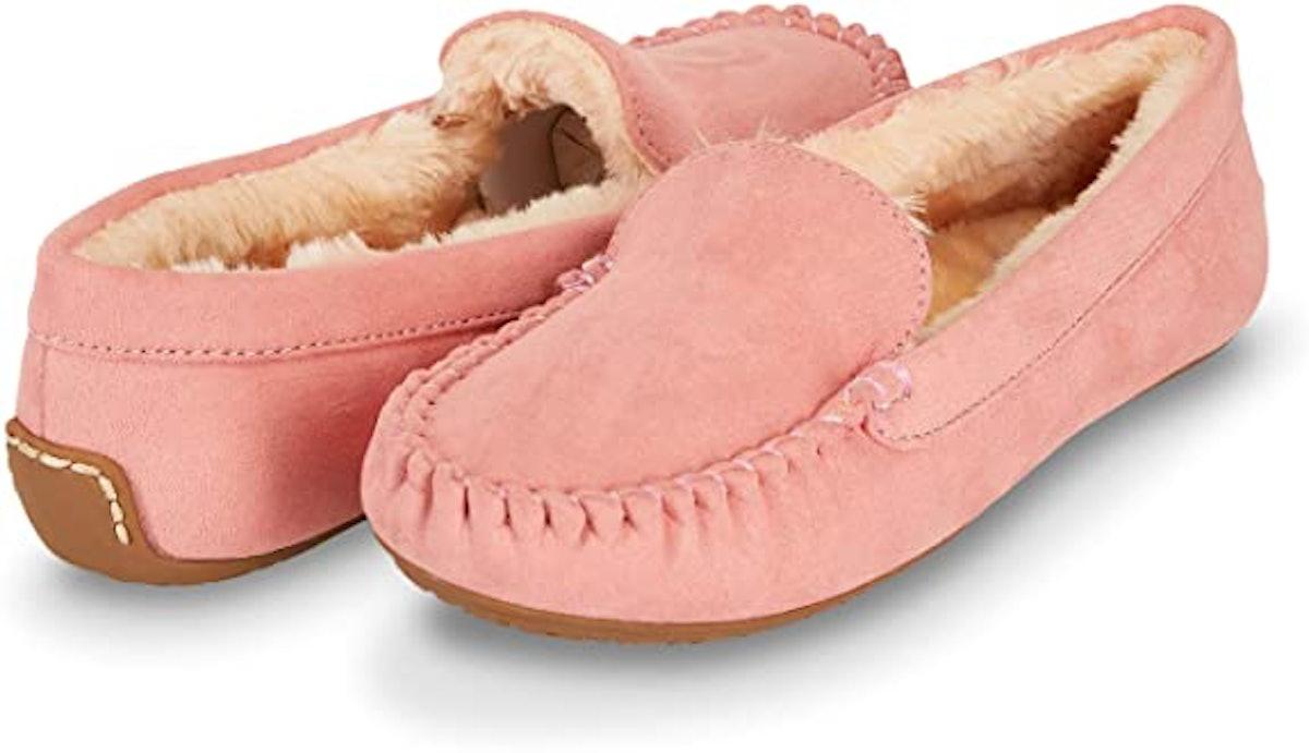 Floopi Women's Leather Moccasin Slipper
