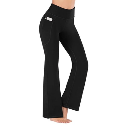 Heathyoga Bootcut Yoga Pants with Pockets
