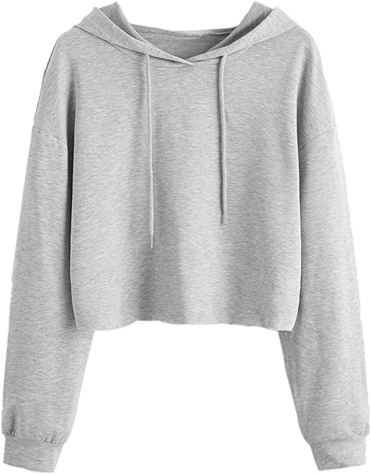 MAKEMECHIC Long Sleeve Crop Top Sweatshirt