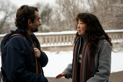 Sandra Oh and Jay Duplass as Ji-Yoon and Bill in 'The Chair' via the Netflix press site