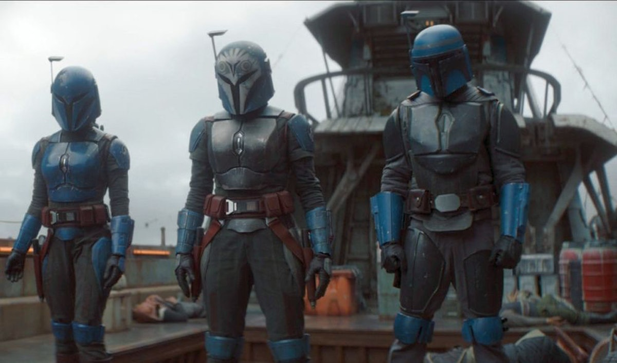 Bo-Katan Kryze, Din Djarin, and Koska Reeves in 'The Mandalorian' Season 2