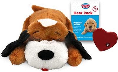 SmartPetLove Snuggle Puppy Heartbeat Stuffed Plush Dog Toy