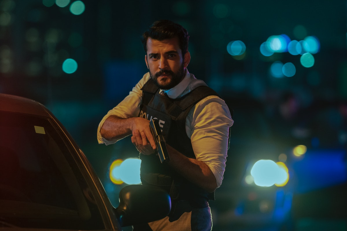 Phoenix Raei as Detective Roshan Amir in episode 102 of Clickbait