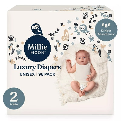 a pack of Millie Moon Luxury Diapers from Target
