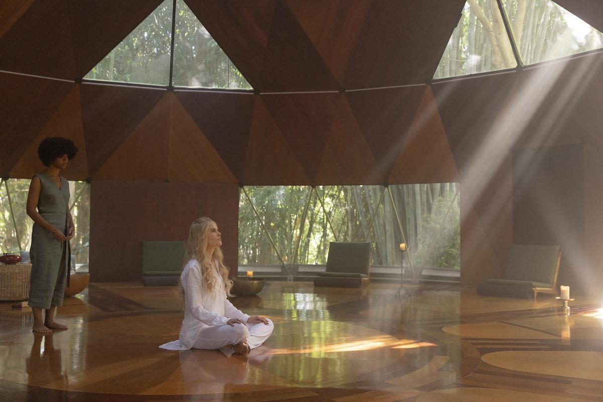 Delilah (Tiffany Boone) and Masha (Nicole Kidman) in 'Nine Perfect Strangers'