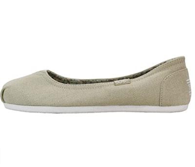 Skechers BOBS Plush-Linen Back Ballet Flats