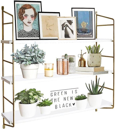 BOLUO Gold Wall Shelf