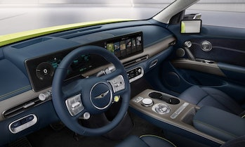 Interior shot of the GV60, the first electric car from Genesis that's built from the ground up on a ...
