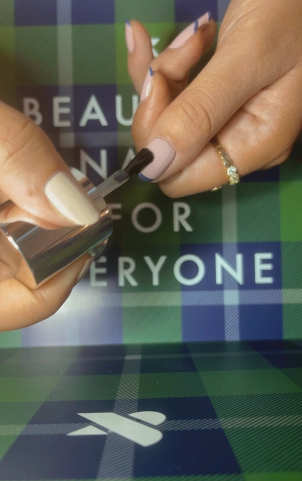 Olivia Van Iderstine demonstrates a nail art look with olive & june's fall 2021 nail collection