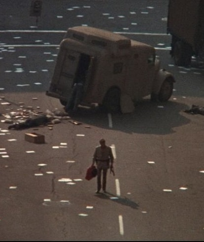 image of ruined street from The Omega Man