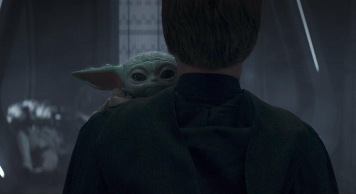 Baby Yoda says goodbye at the end of 'The Mandalorian' Season 2