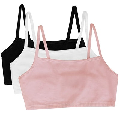 Fruit of the Loom Cotton Pullover Sports Bra