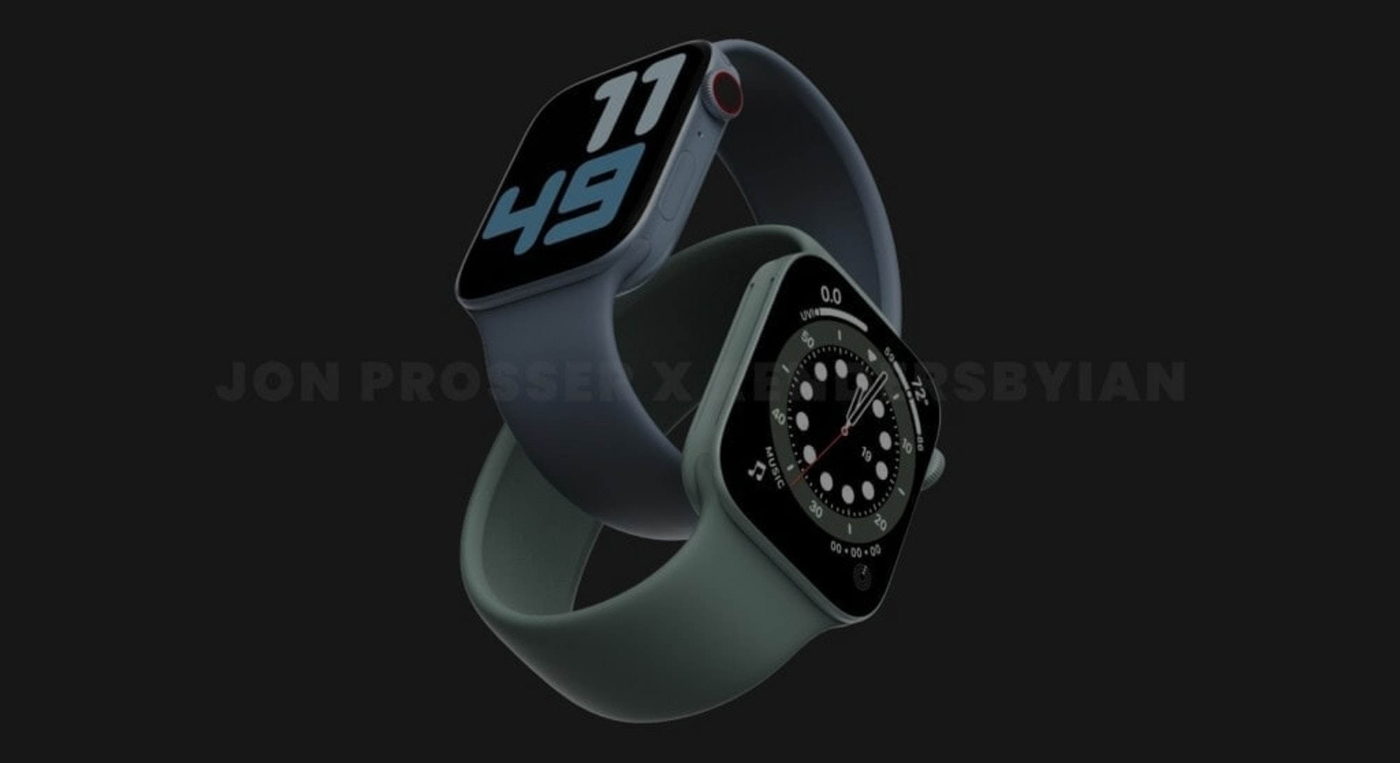 Apple Watch Series 7 leaked image concept render