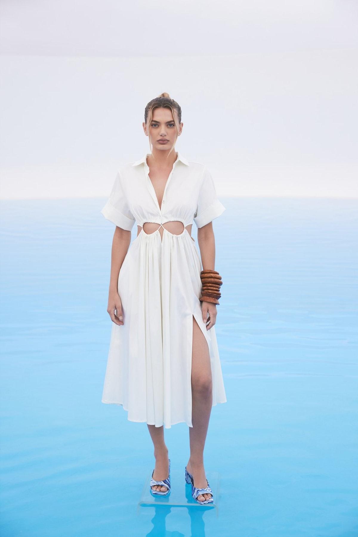 Cult Gaia white cutout dress