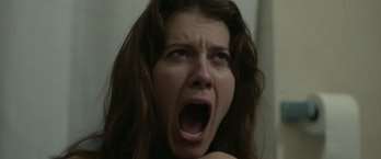 Mary Elizabeth Winstead screams as Claire in the movie Faults