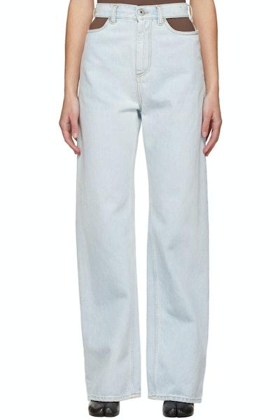 Maison Margiela Blue Cut-Out Jeans