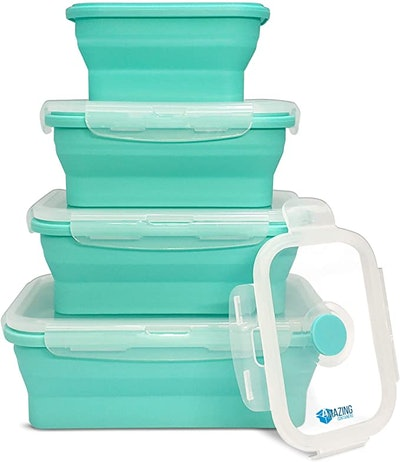 Amazing Containers Collapsible Silicone Food Storage