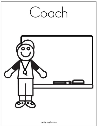 football coach coloring page