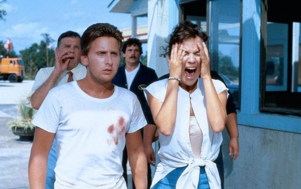 Emilio Estevez in his first and only Razzie-nominated performance.