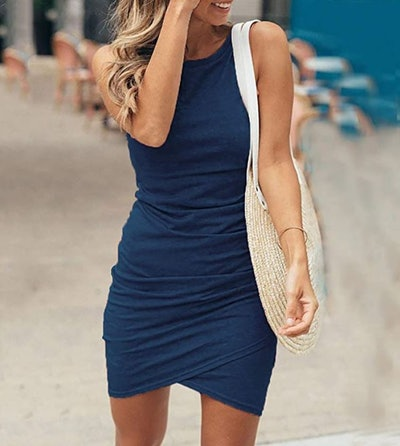 BTFBM Sleeveless Bodycon Mini Dress