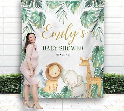 Safari Baby Shower Backdrop