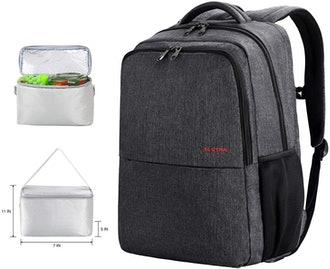 SLOTRA Laptop Backpack with Lunch Box