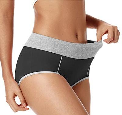 POKARLA High Waisted Cotton Underwear Soft Breathable Panties Stretch Briefs