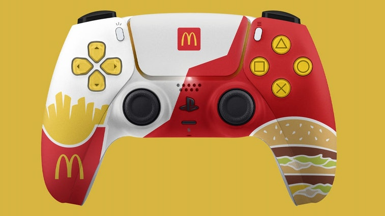McDonald's Australia accidentally teased a themed PlayStation 5 controller that never left the idea ...
