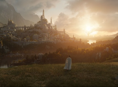 The first image from Amazon's 'Lord of the Rings' series, depicting a castle