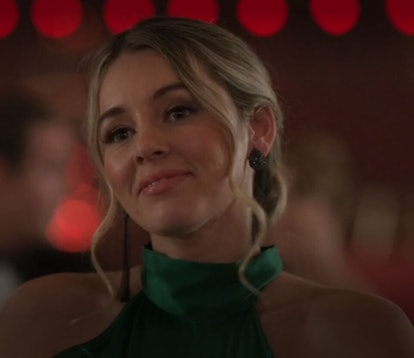 Bex (Keeley Hazell) whose zodiac sign is Libra, gazing at the camera in Ted Lasso, on Apple TV+.