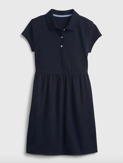 Kids Organic Cotton Uniform Polo Dress