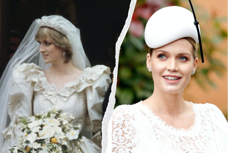 Kitty Spencer's wedding dress had several similarities to her late Aunt Princess Diana's gown, from ...