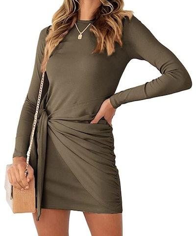 LILLUSORY Long Sleeve Mini Dress