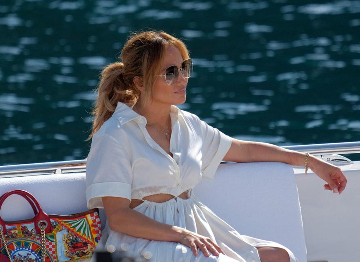 Jennifer Lopez is seen on July 31, 2021 in Portofino, Italy.