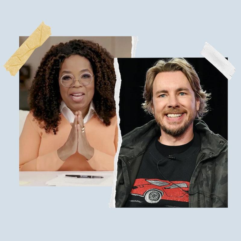 Top celebrity podcast hosts Oprah Winfrey and Dax Shepard.