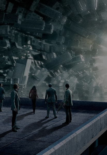 promo image of twisted city streets from Inception