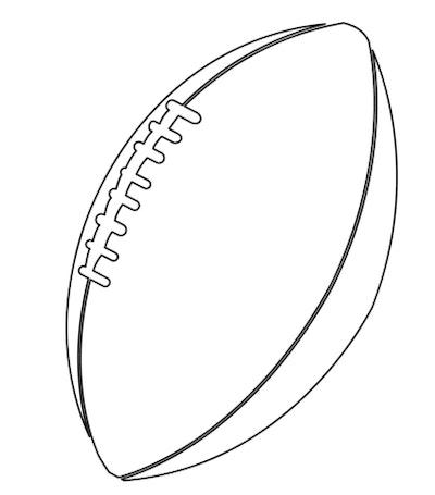 American football coloring sheet