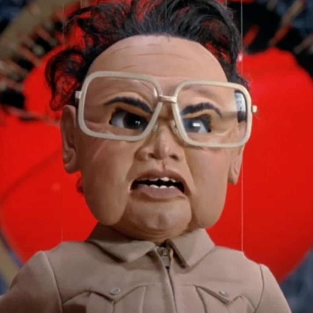 A still of the puppet Kim Jong-Il from 'Team America: World Police.'