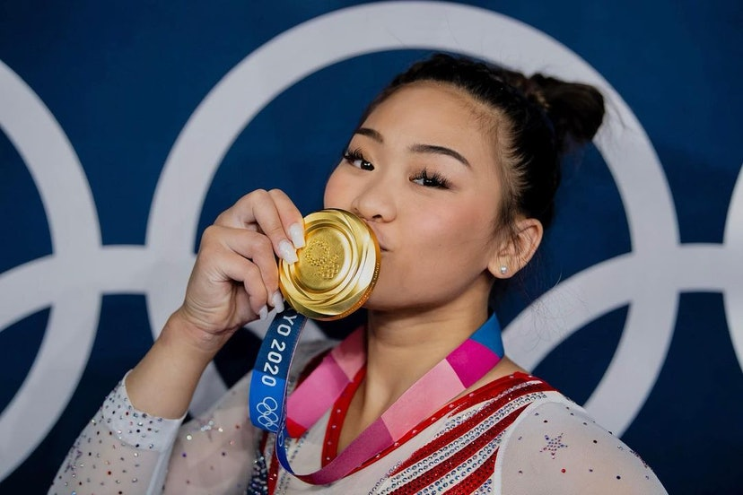 Sunisa Lee with her gold medal