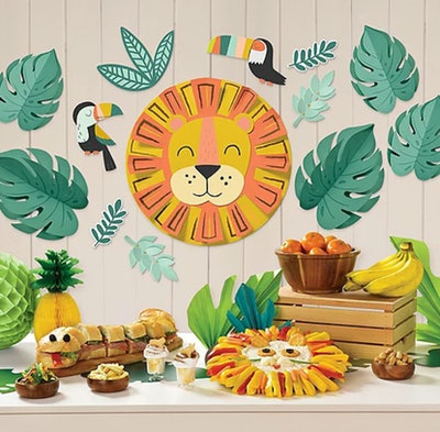 Get Wild Jungle Cardstock Wall Decorating Kit