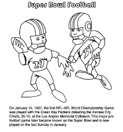 Super Bowl football game coloring page